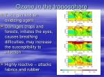 ozone in the troposphere