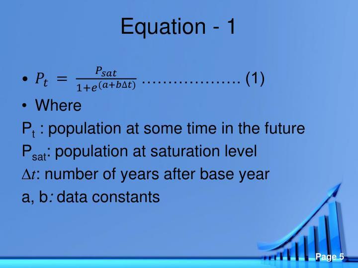 Equation - 1