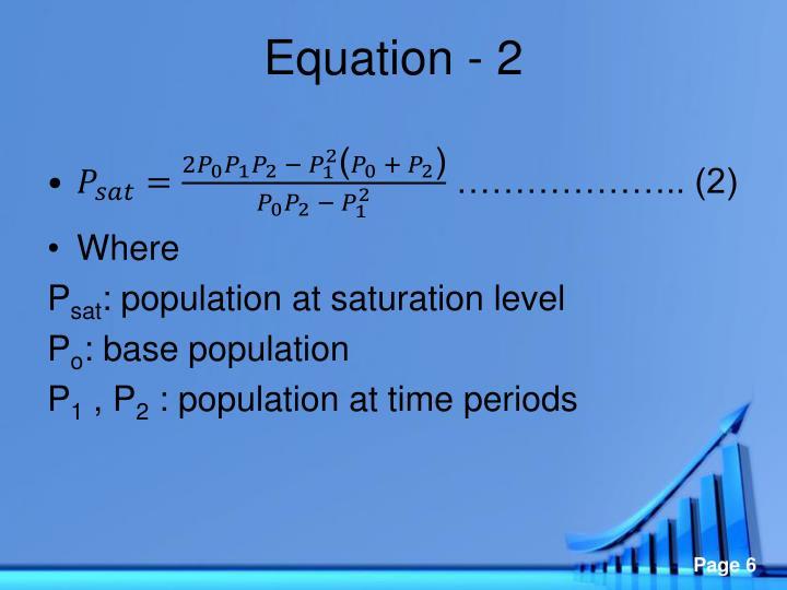 Equation - 2