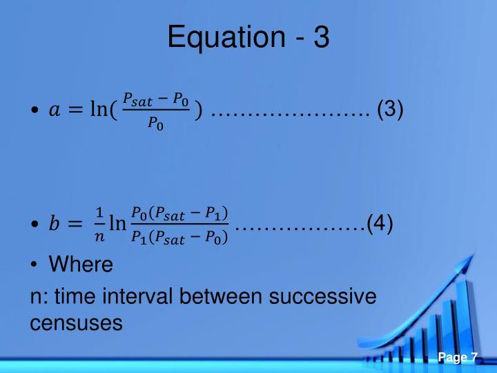 Equation - 3