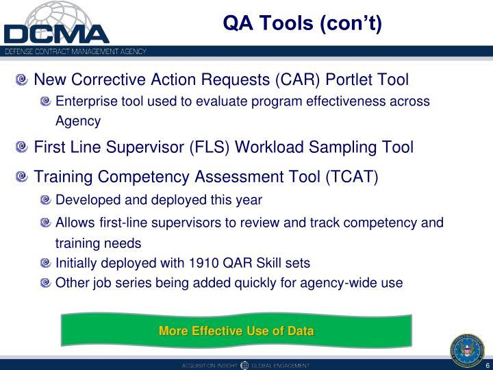 QA Tools (con't)