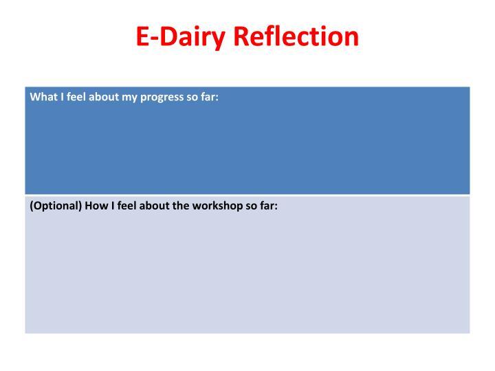 E-Dairy Reflection