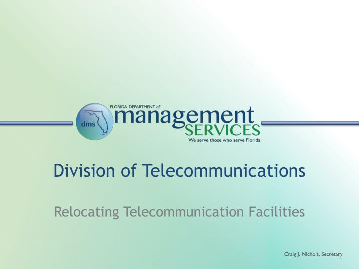 Division of telecommunications