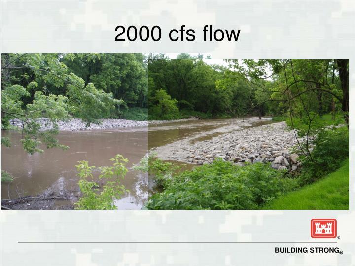 2000 cfs flow