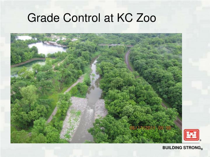 Grade Control at KC Zoo