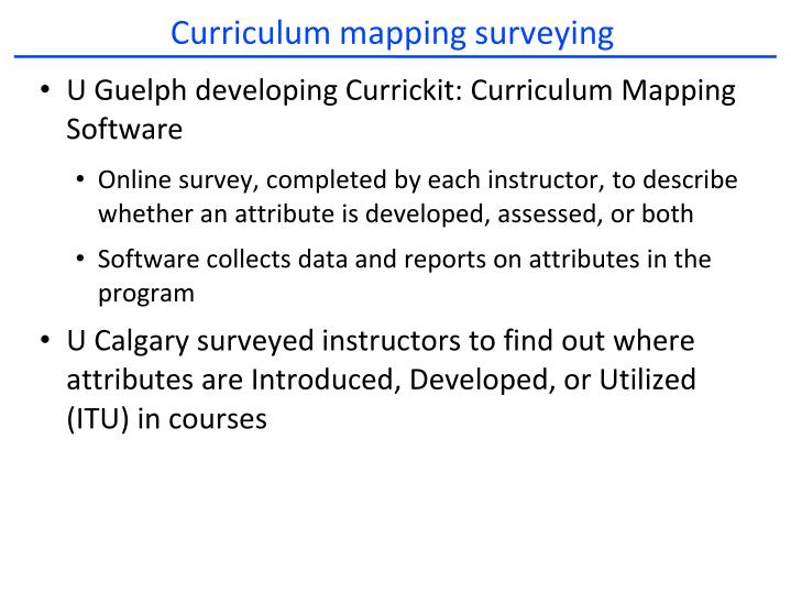 Curriculum mapping surveying