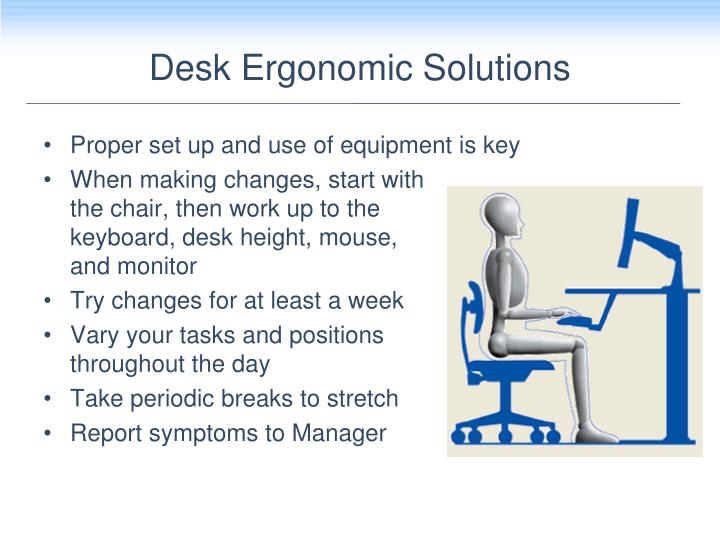 Desk Ergonomic Solutions