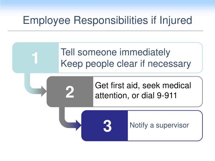 Employee Responsibilities if Injured