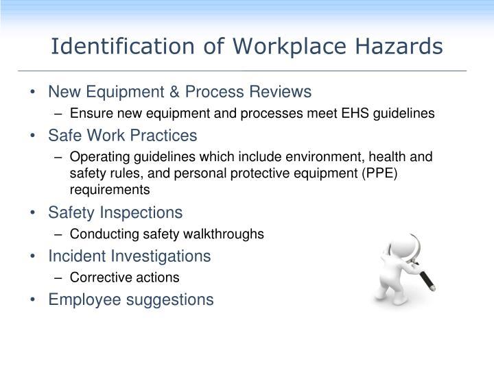 Identification of Workplace Hazards
