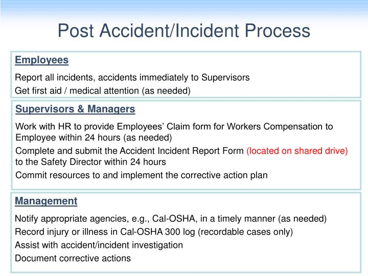 Post Accident/Incident Process