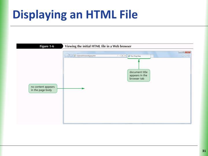 Displaying an HTML File