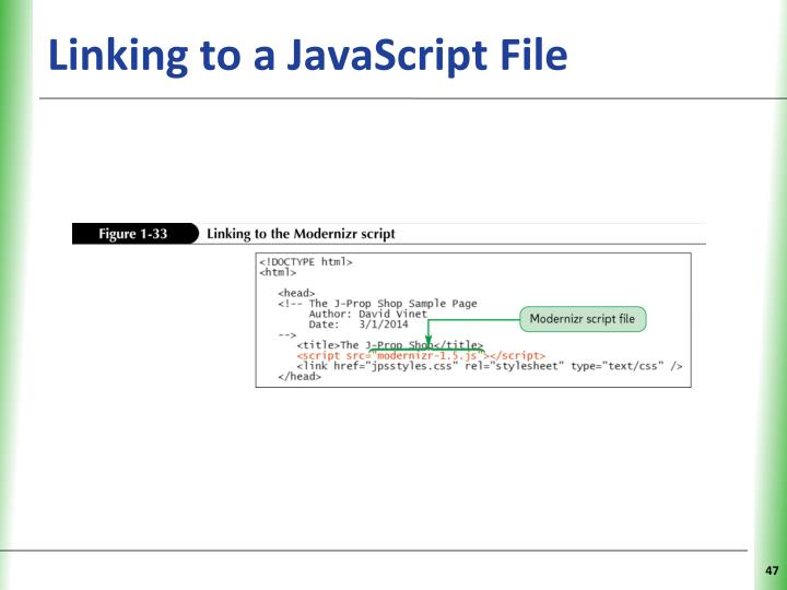 Linking to a JavaScript File