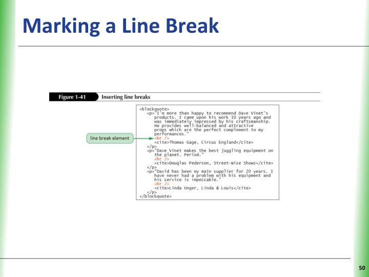 Marking a Line Break