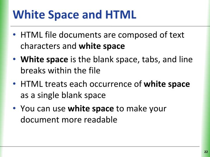 White Space and HTML