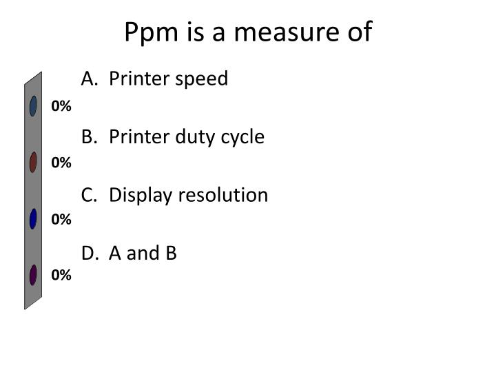 Ppm is a measure of