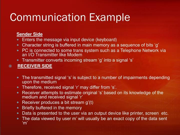 Communication Example