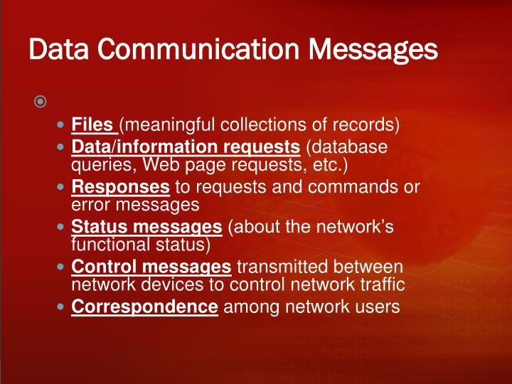Data Communication Messages