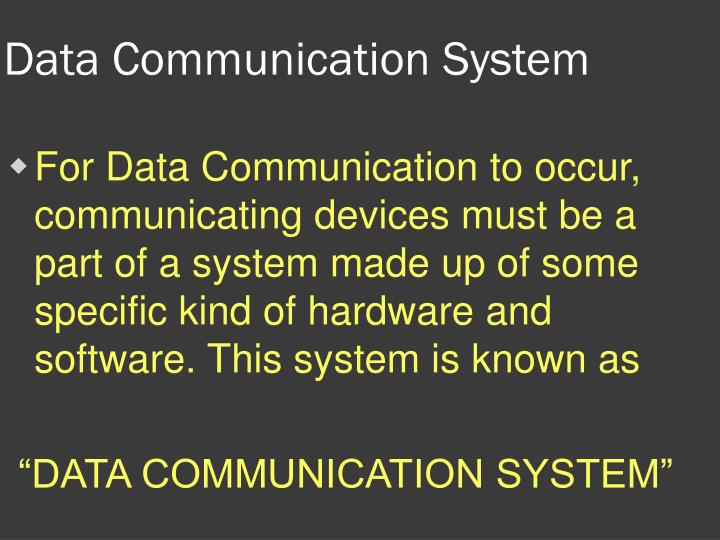 Data Communication System