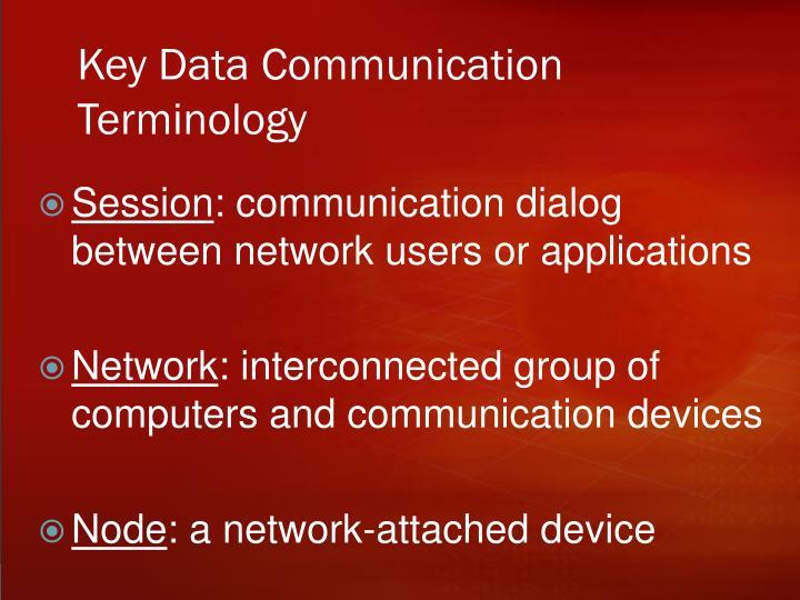 Key Data Communication Terminology