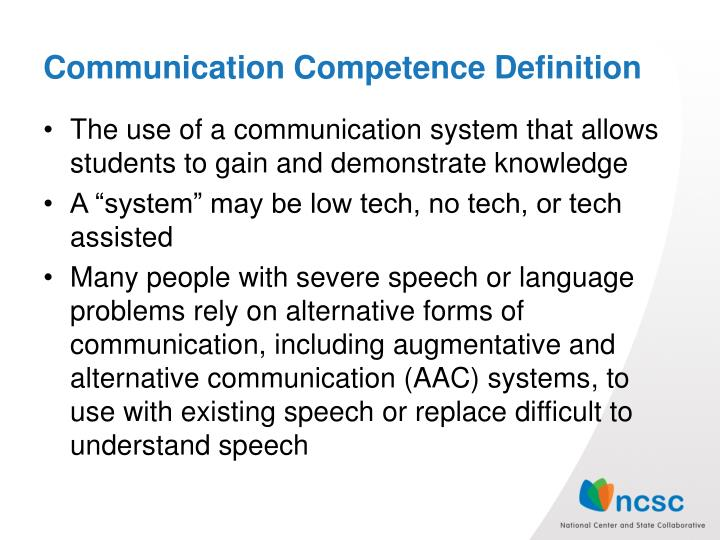 Communication competence definition