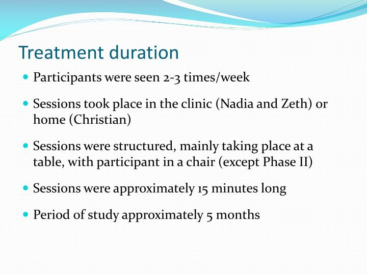 Treatment duration
