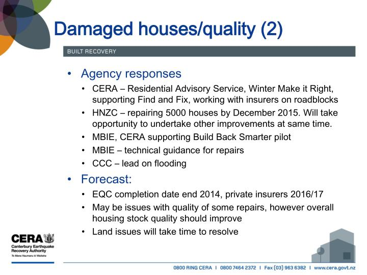 Damaged houses/quality (2)