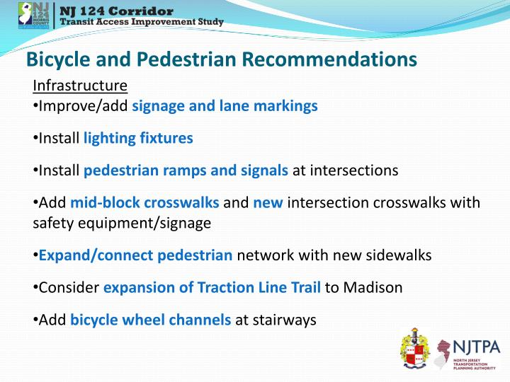 Bicycle and Pedestrian Recommendations