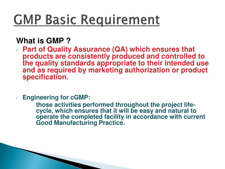 GMP Basic Requirement