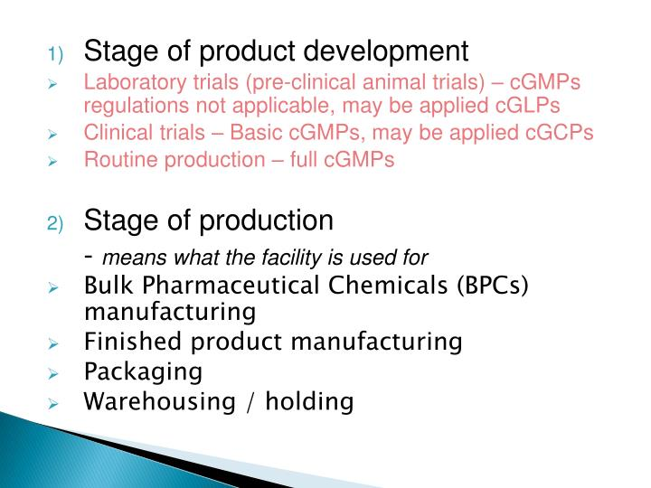 Stage of product development