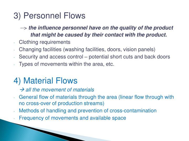 3) Personnel Flows