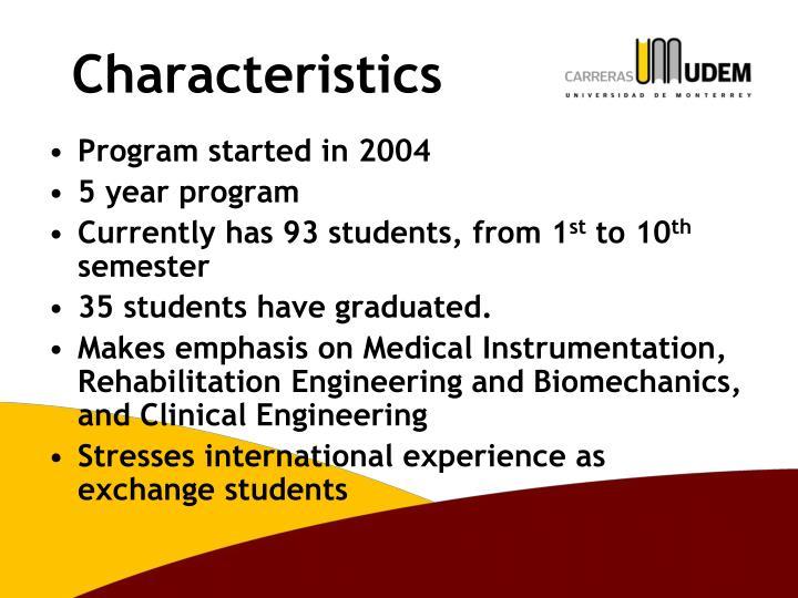 Program started in 2004