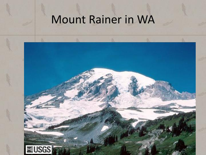 Mount Rainer in WA