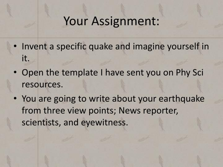 Your Assignment: