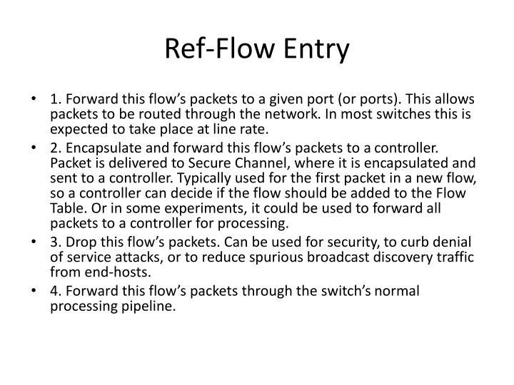 Ref-Flow Entry