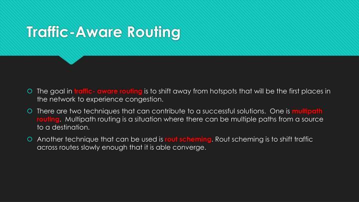 Traffic-Aware Routing