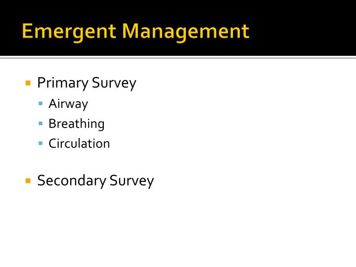 Emergent Management