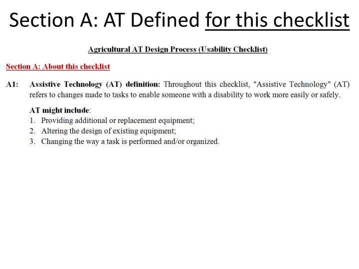 Section A: AT Defined