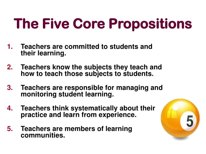 T he five core propositions
