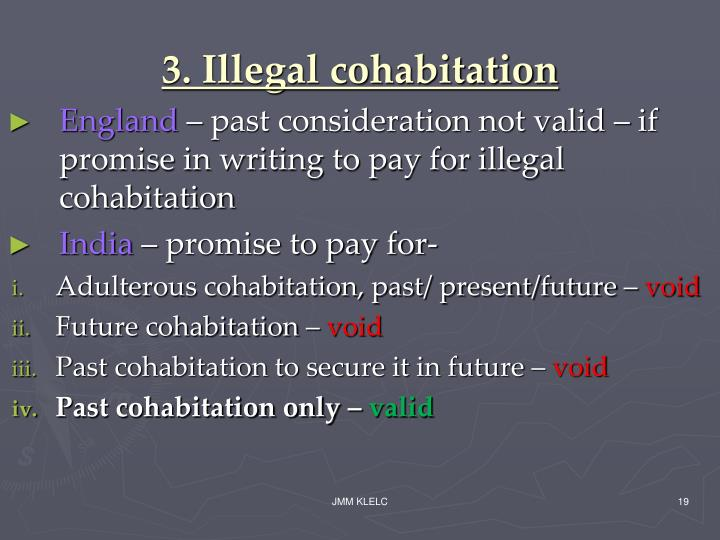 3. Illegal cohabitation