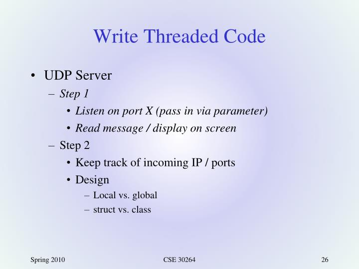 Write Threaded Code