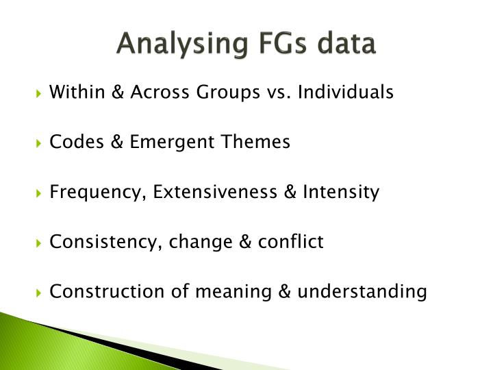 Analysing FGs data
