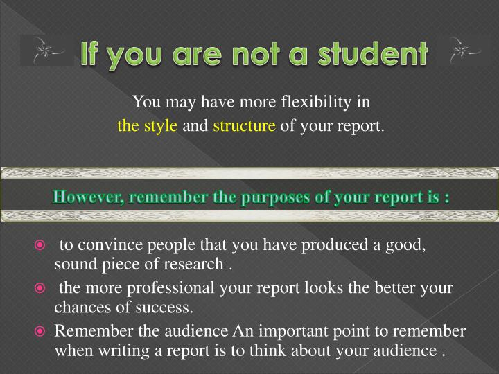 If you are not a student