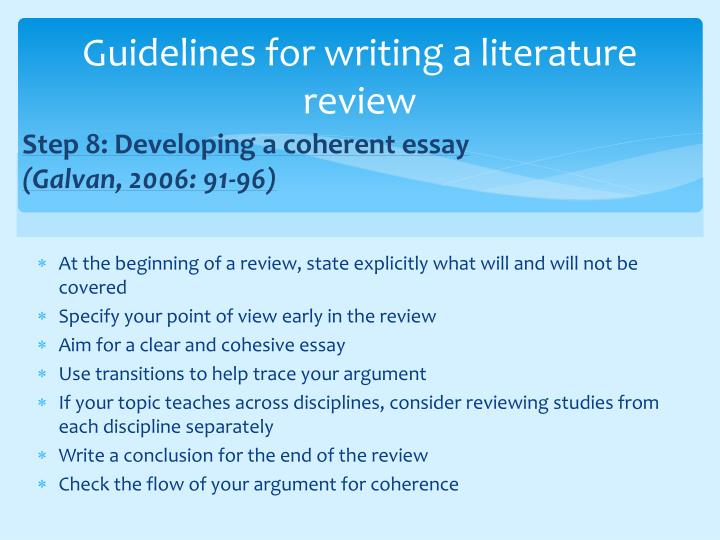 scientific literature review thesis