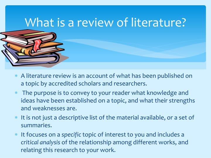 What is a review of literature