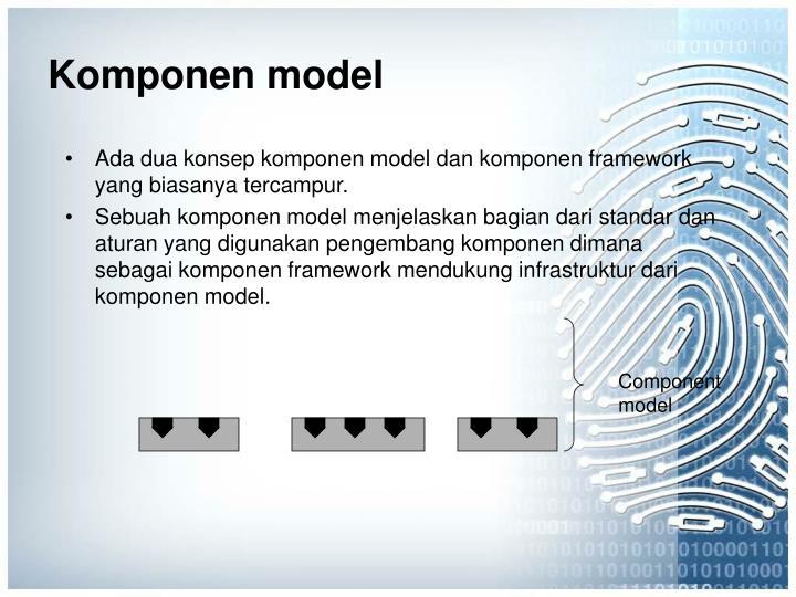 Komponen model
