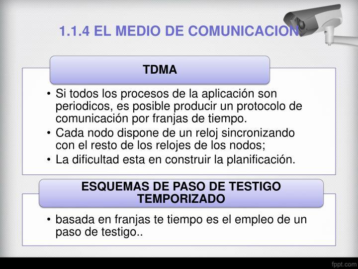 1.1.4 EL MEDIO DE COMUNICACION