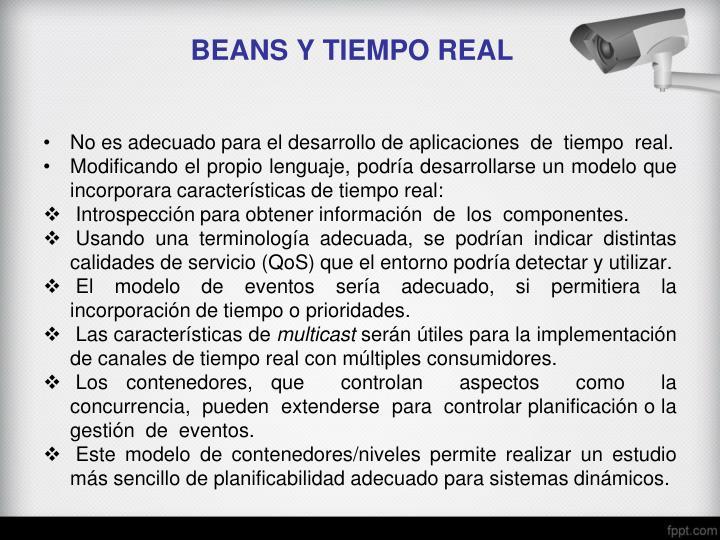 BEANS Y TIEMPO REAL
