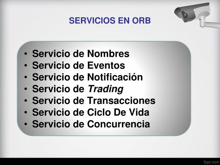 SERVICIOS EN ORB