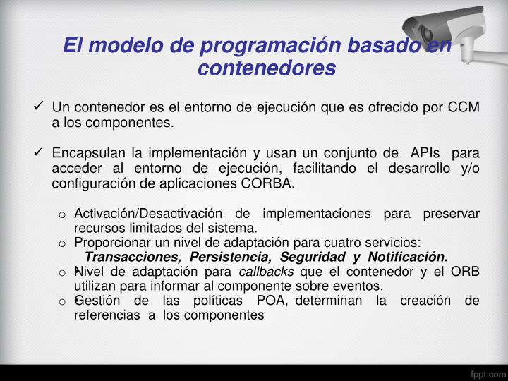 El modelo de programación basado en
