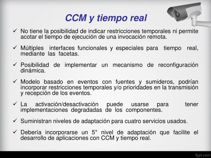 CCM y tiempo